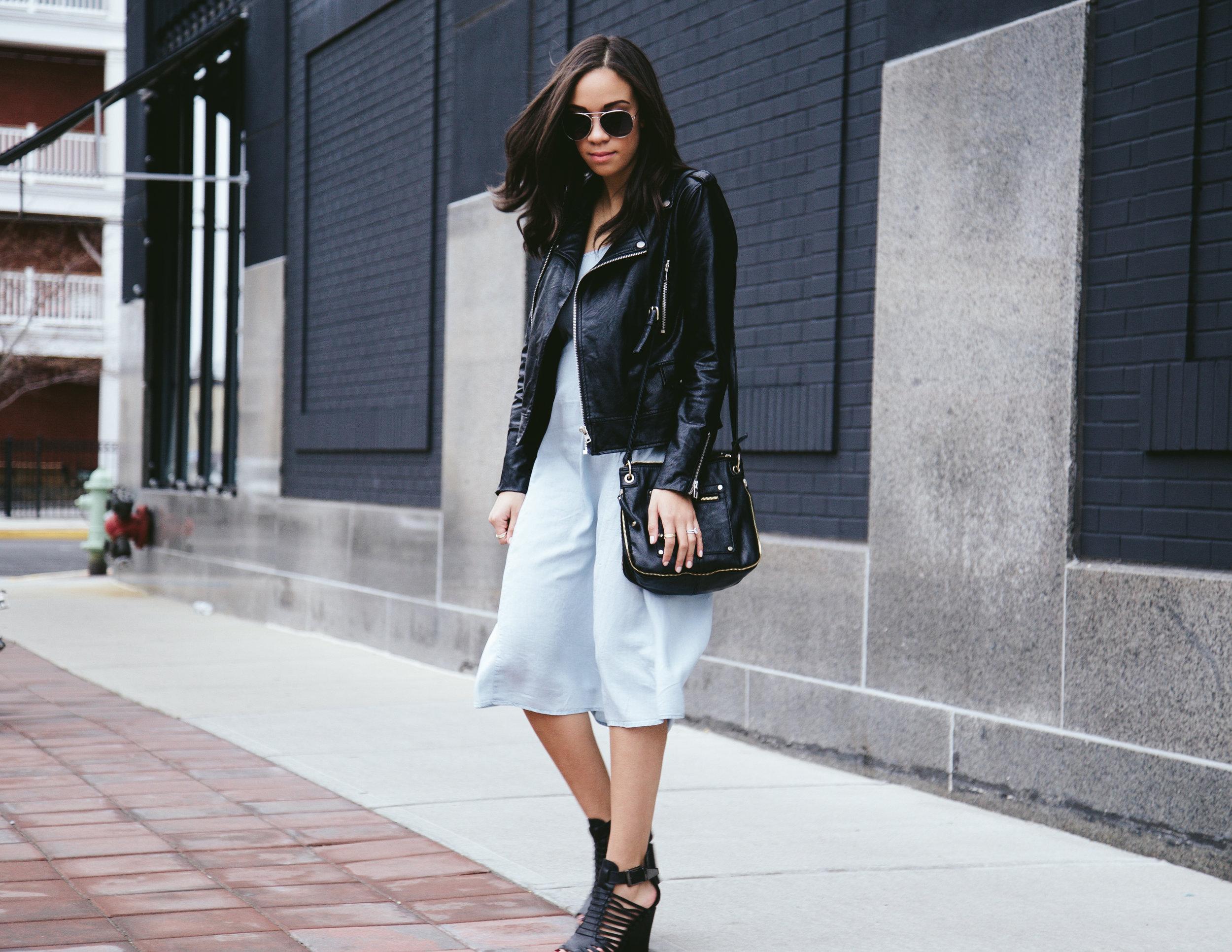 Spring Denim Dress + Faux Leather Jacket 2.jpg