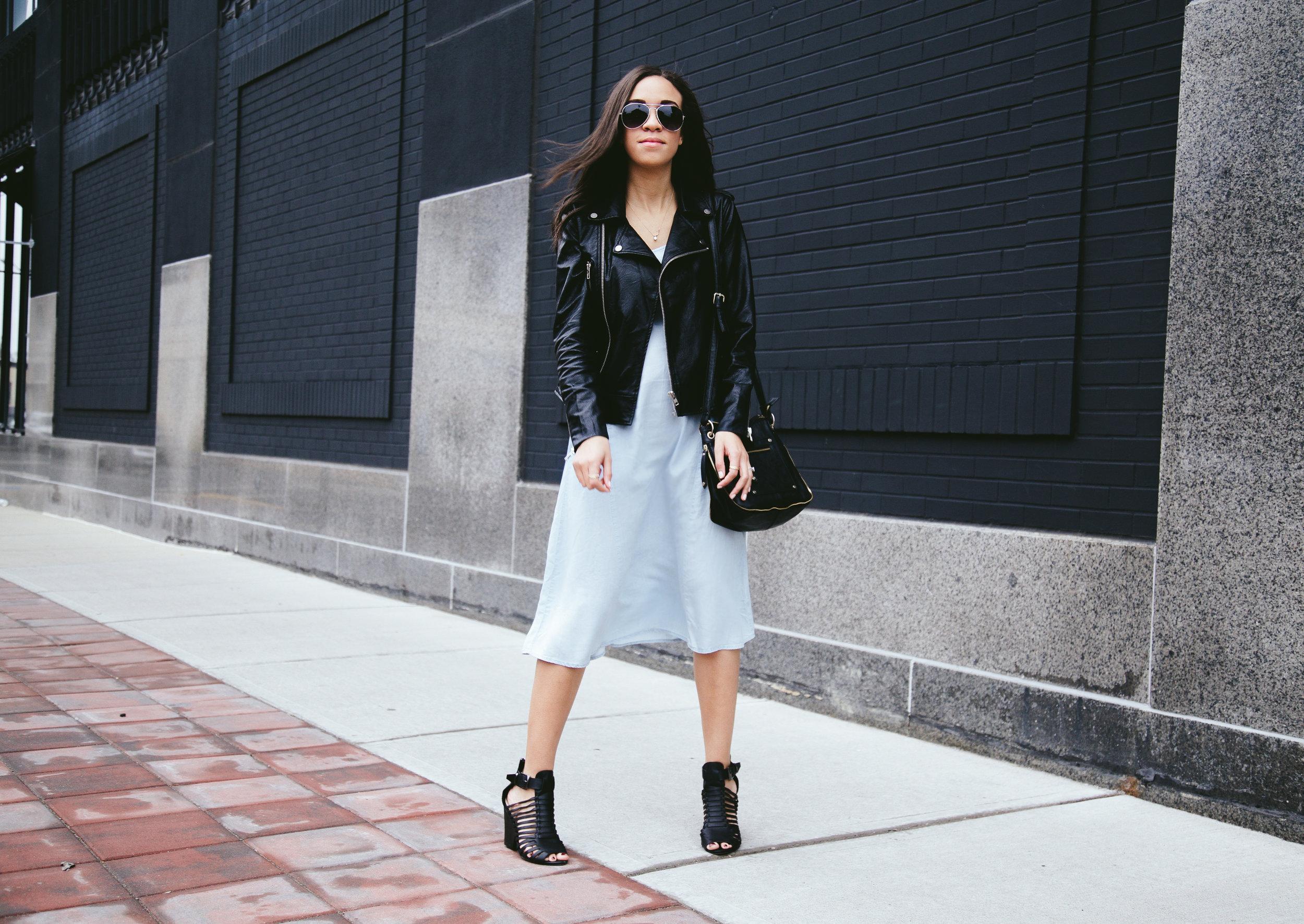 Spring Denim Dress + Faux Leather Jacket 3.jpg