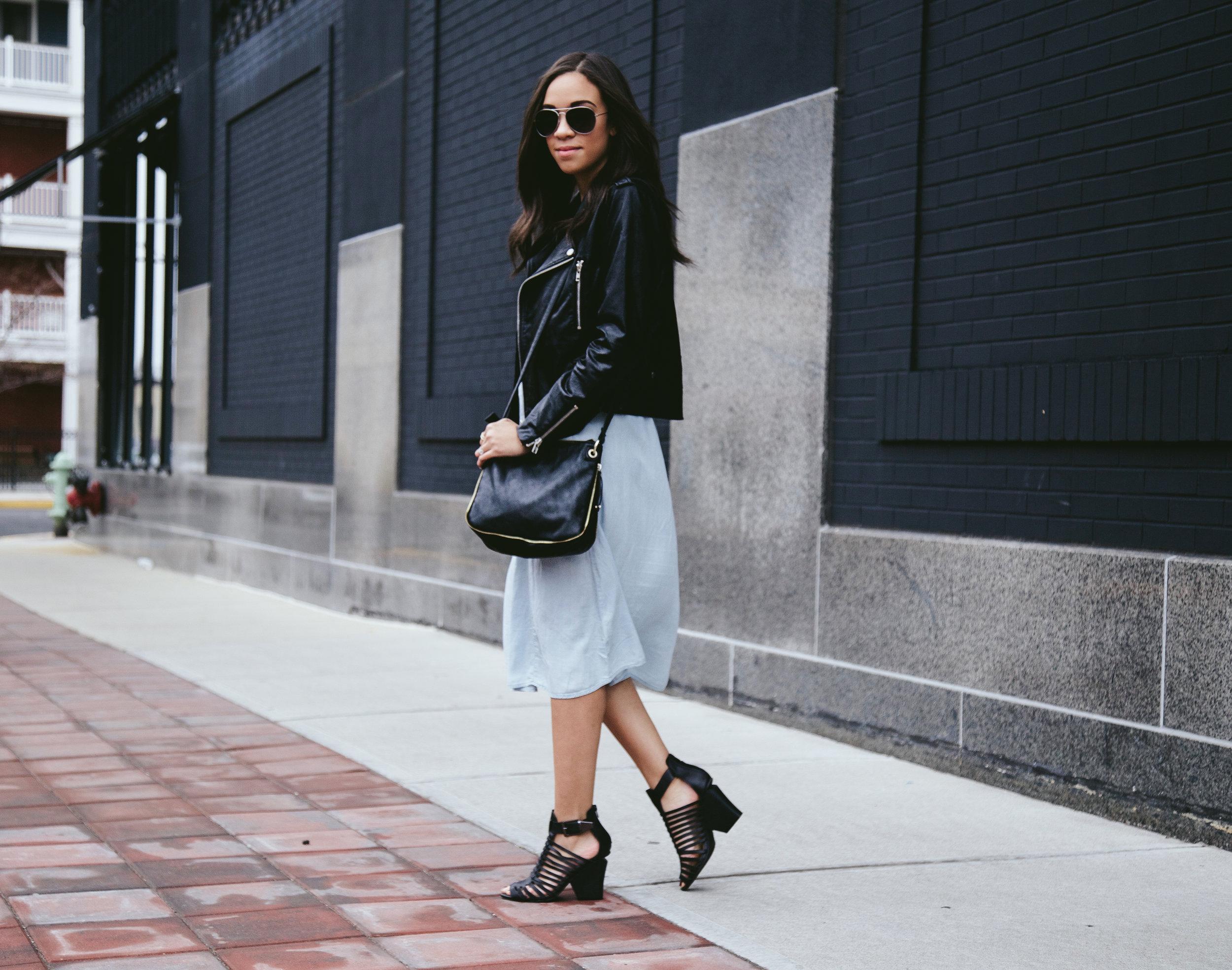 Spring Denim Dress + Faux Leather Jacket.jpg