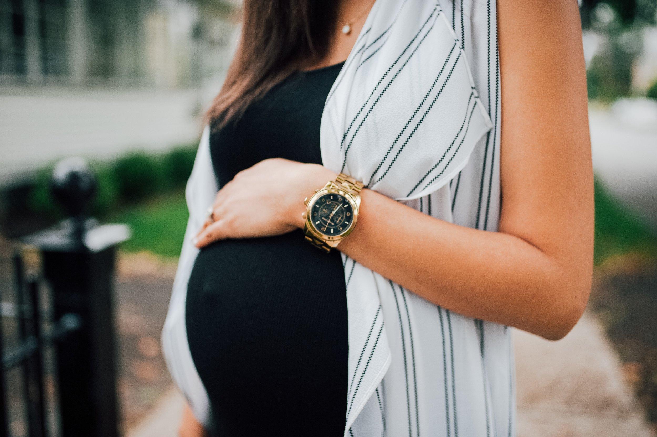Maternity Black Dress + Vest 2.jpg