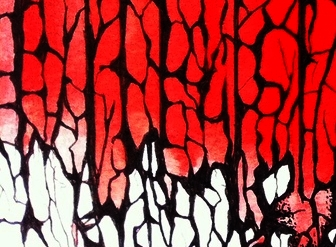 A Curtain of Red - (Detail)   ©ANTHONY WIGGLESWORTH 2015