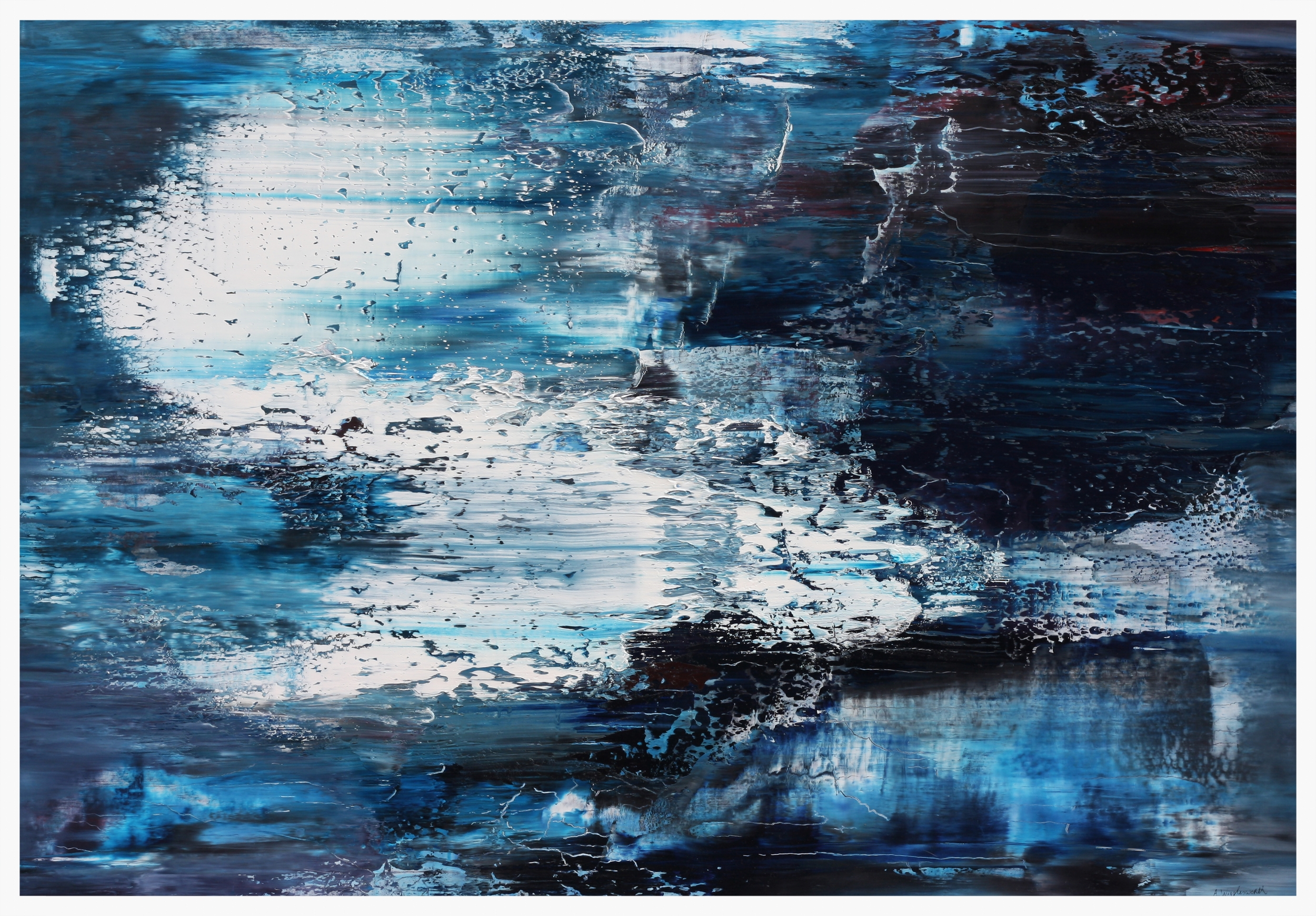 Out of The Blue,   Oil on canvas, 70 cm x 100 cm, The Chimera Gallery
