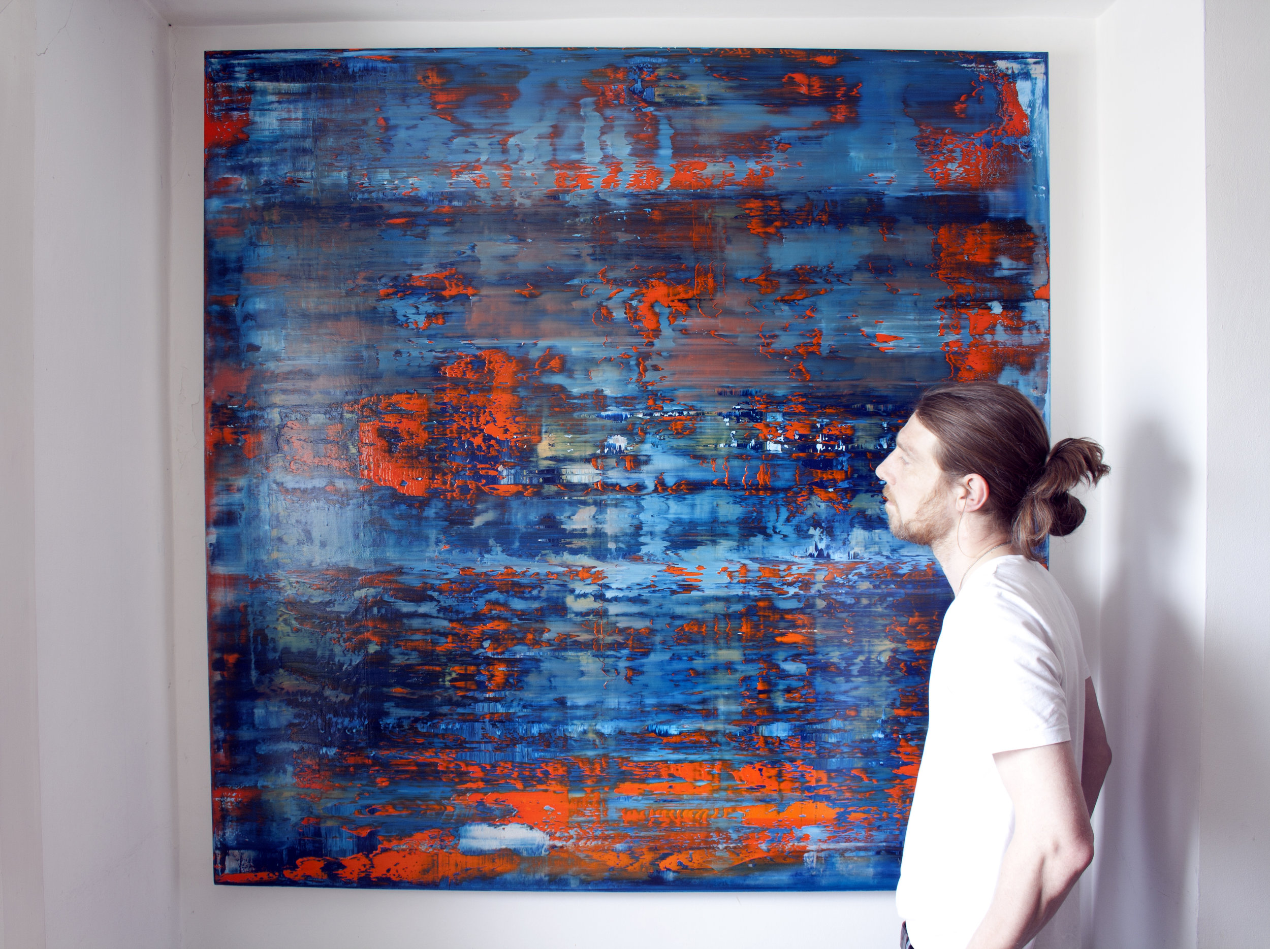 The Blue Hour   Oil on canvas 150cm x 150cm x 4.6cm © Anthony Wigglesworth - All Rights Reserved Inception Gallery, Paris