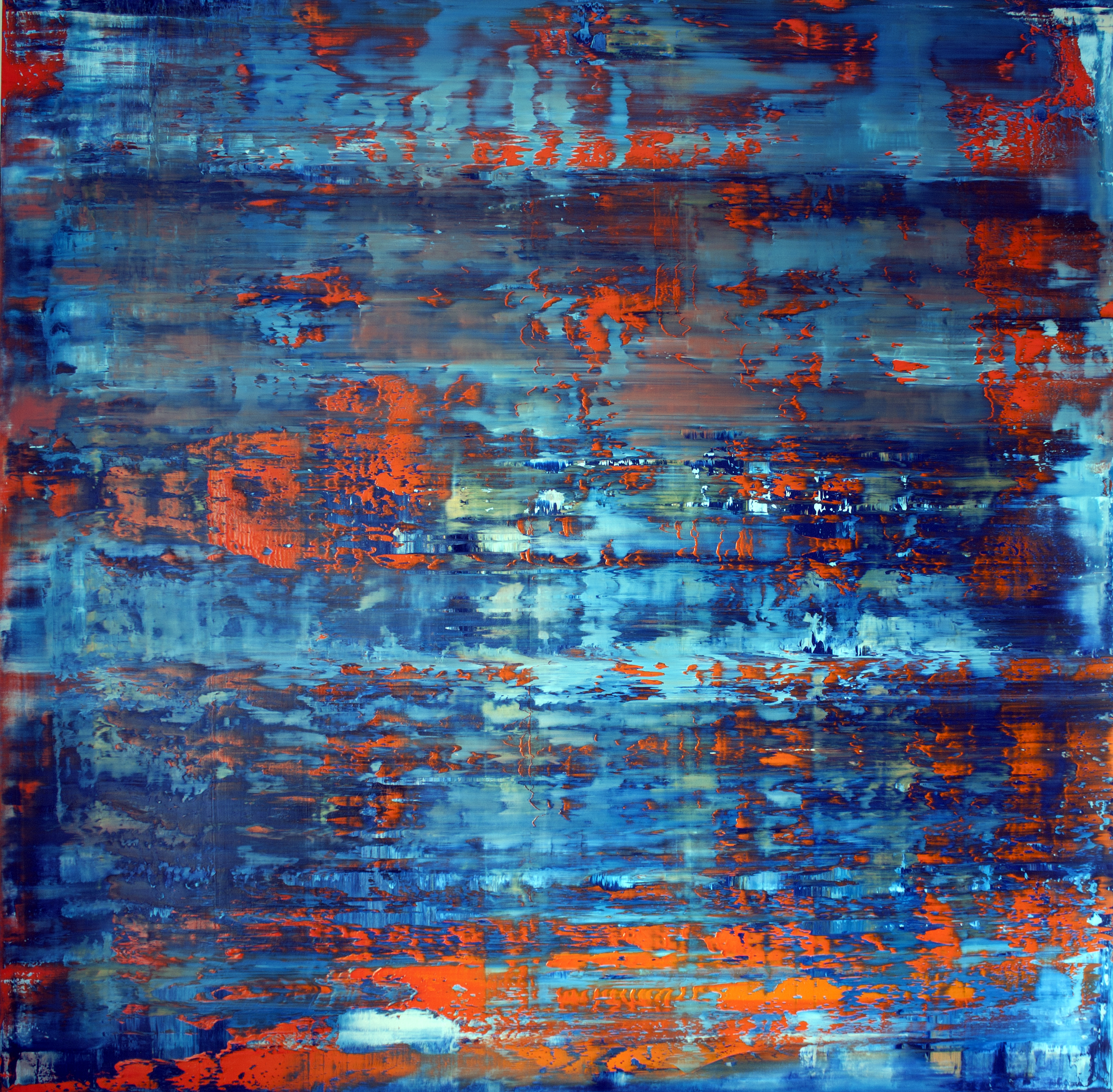 The Blue Hour   Oil on canvas 150cm x 150cm x 4.6cm © Anthony Wigglesworth - All Rights Reserved nception Gallery, Paris