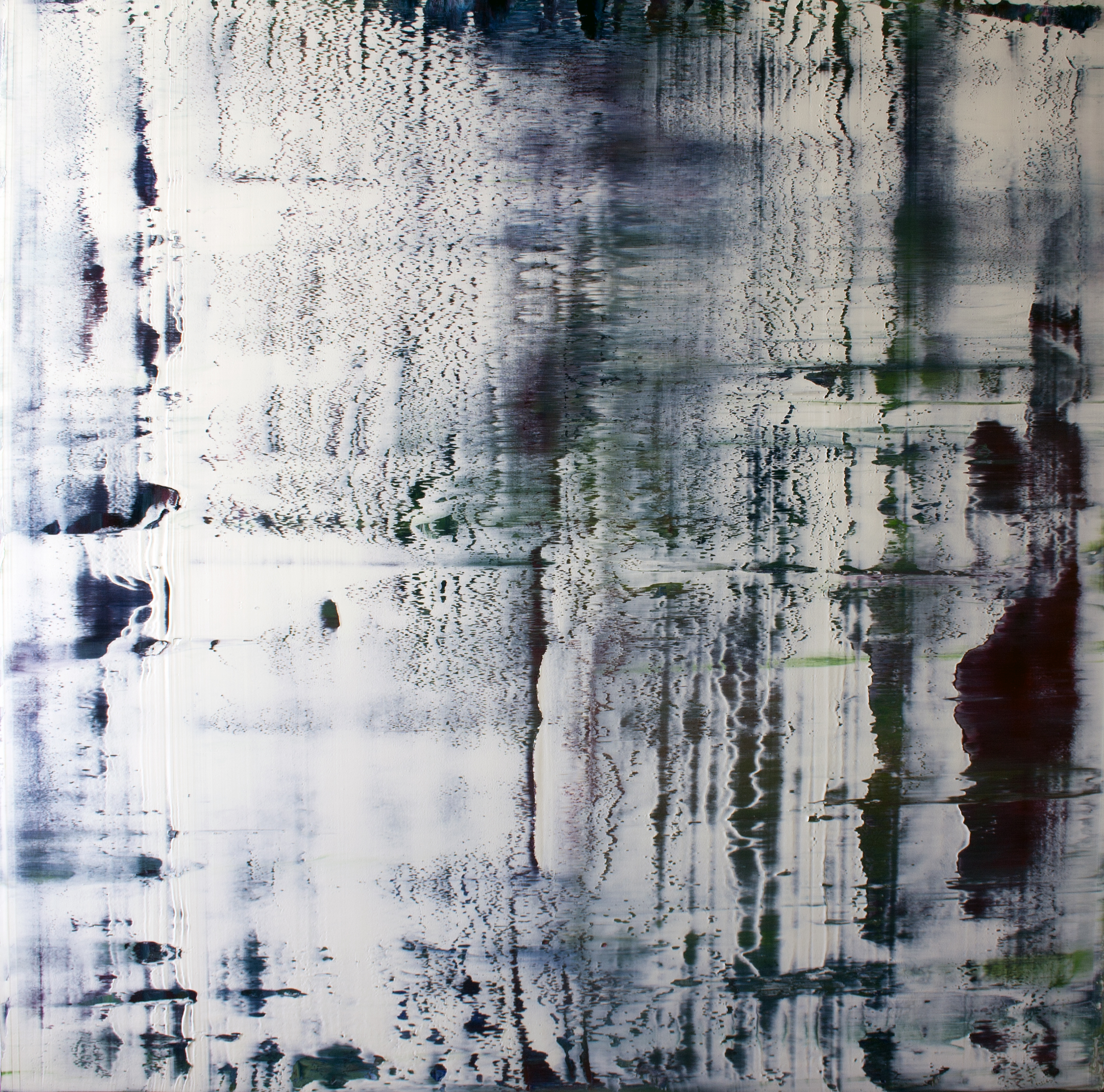 White Noise   Oil on canvas 100cm x 100cm © Anthony Wigglesworth - All Rights Reserved