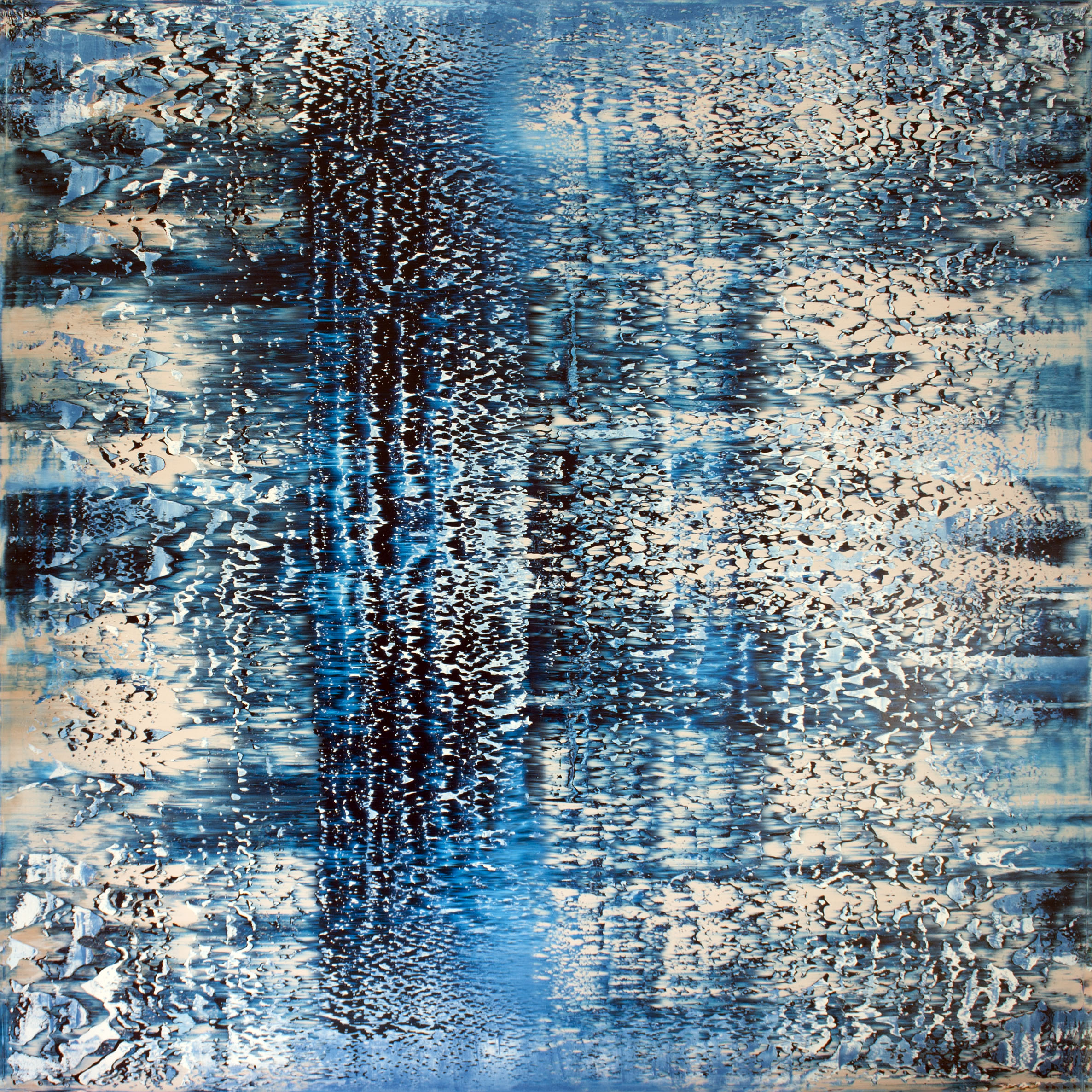 Reef  Oil on canvas 150cm x 150cm x 4.6cm Private collection