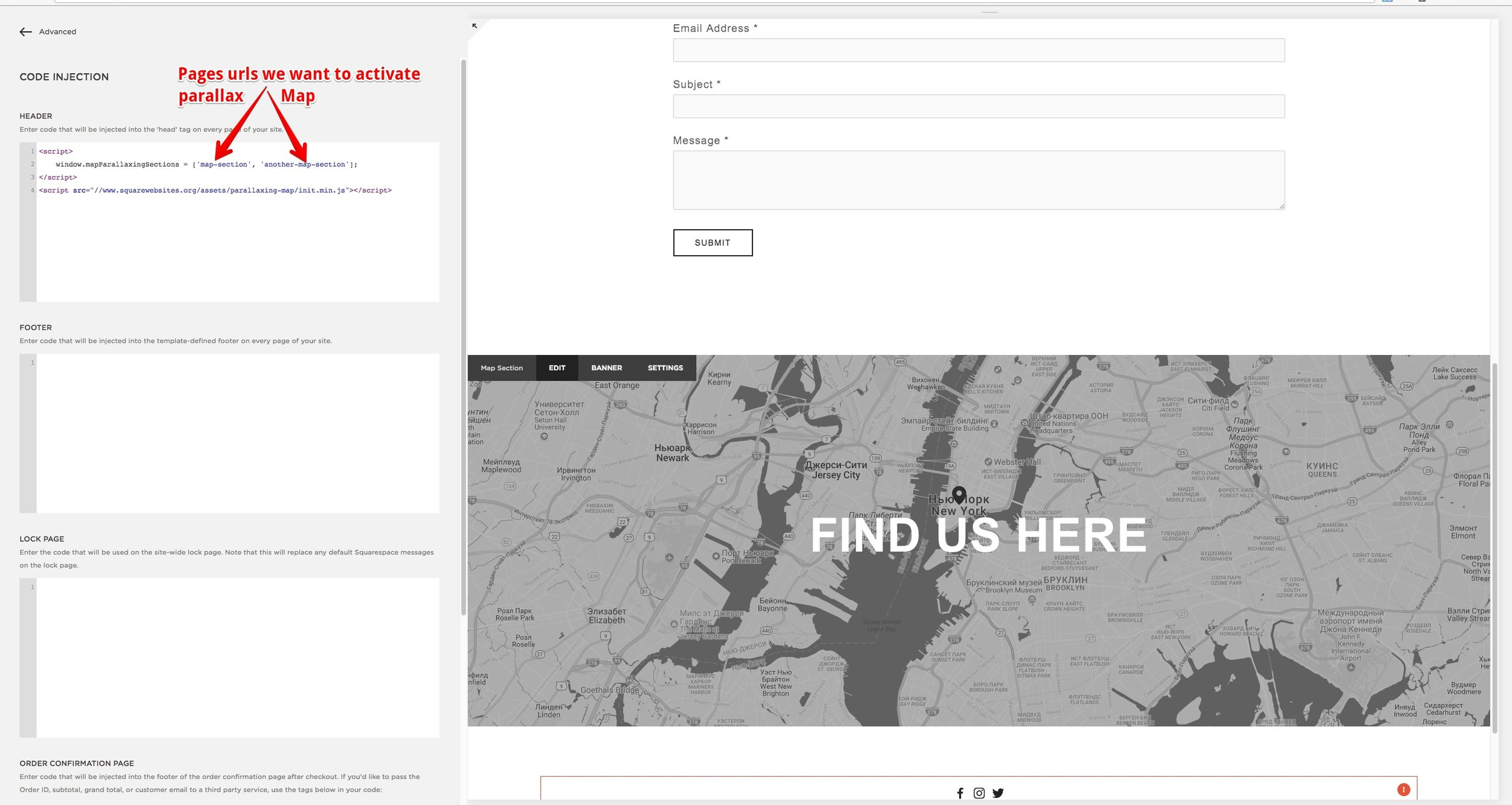 Home with Map Section — Injection and Config
