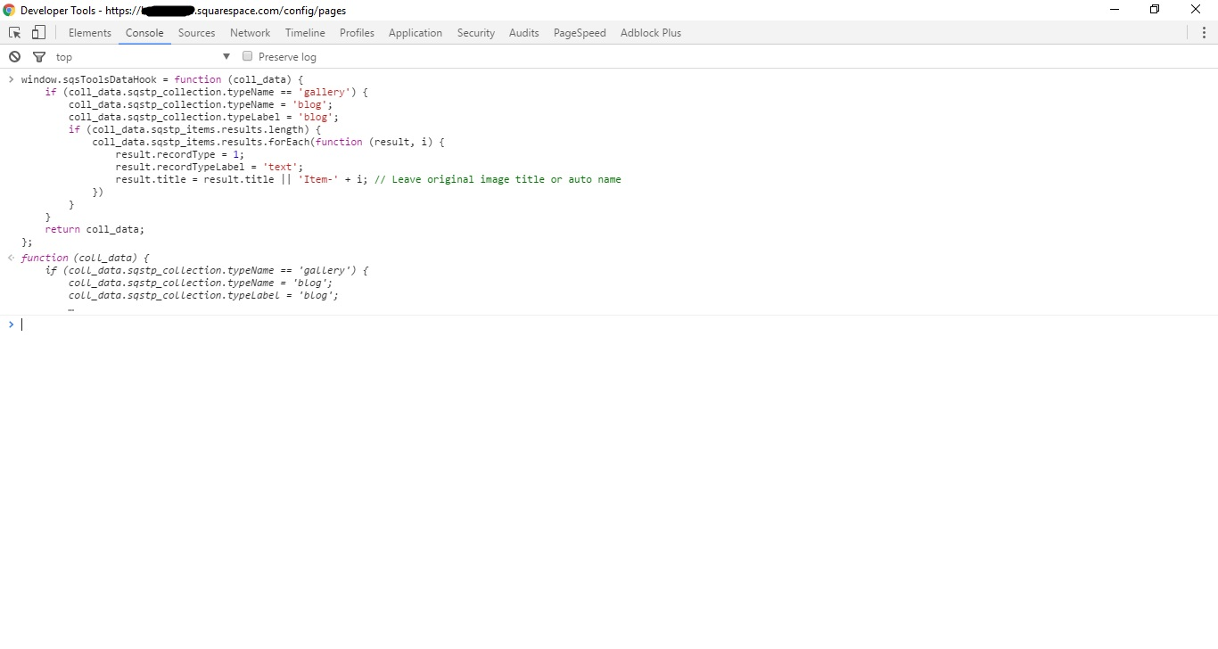 sqsToolsDataHook function defined