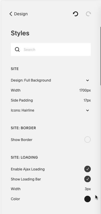 Site Styles With UI Tweaks