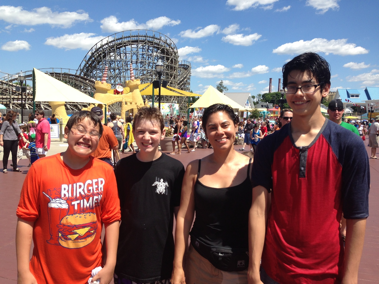 Truly and intensely soaked after riding Tidal Force at Hershey Park