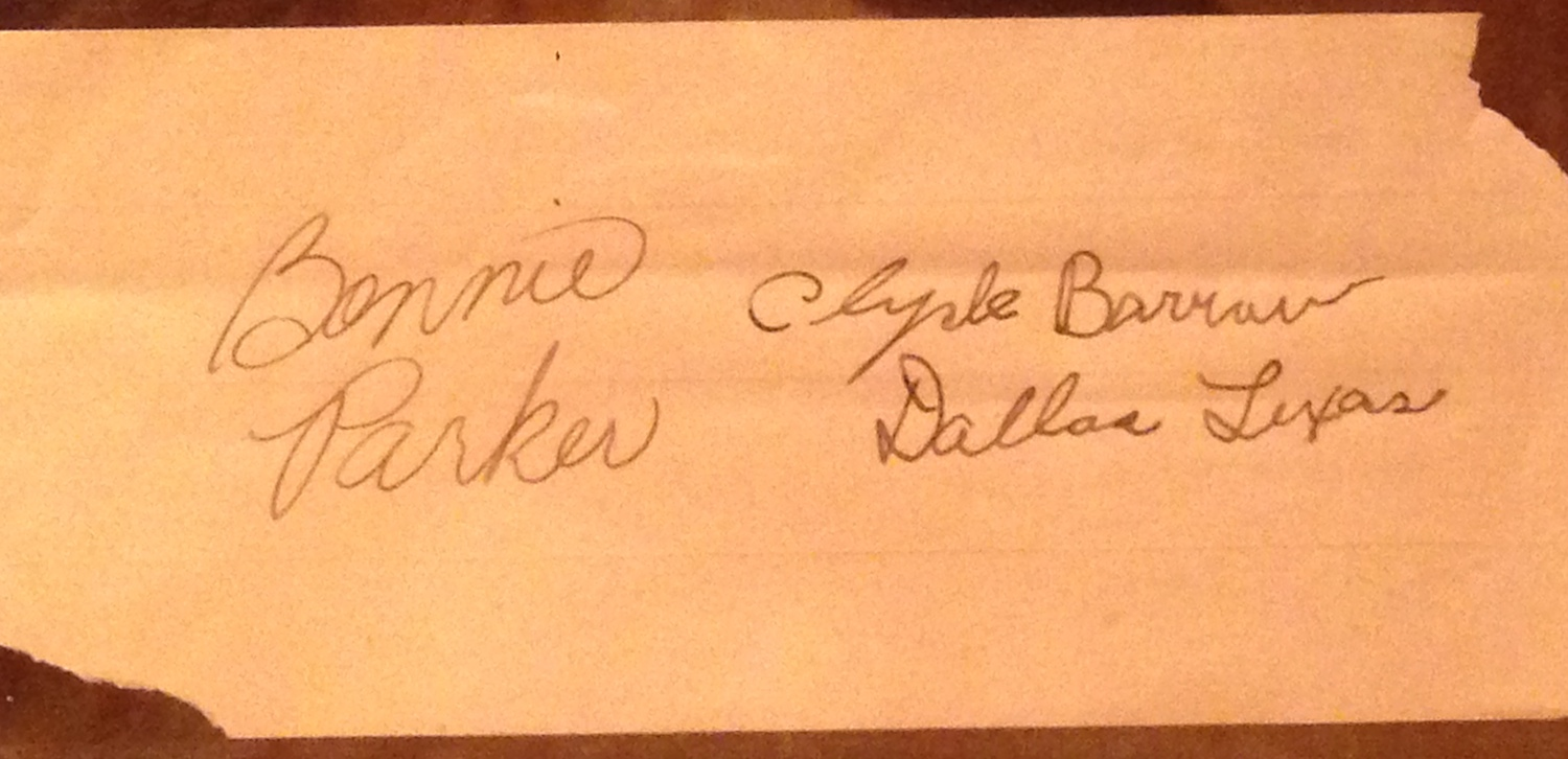 Bonnie and Clyde Signature