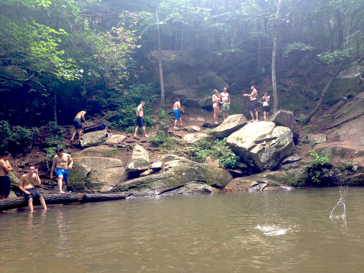 Strangers quickly become compatriots at the swimming hole