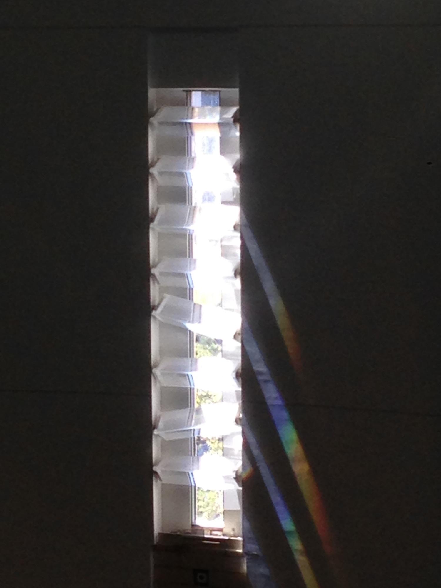Prisms Create Rainbows in the Interior