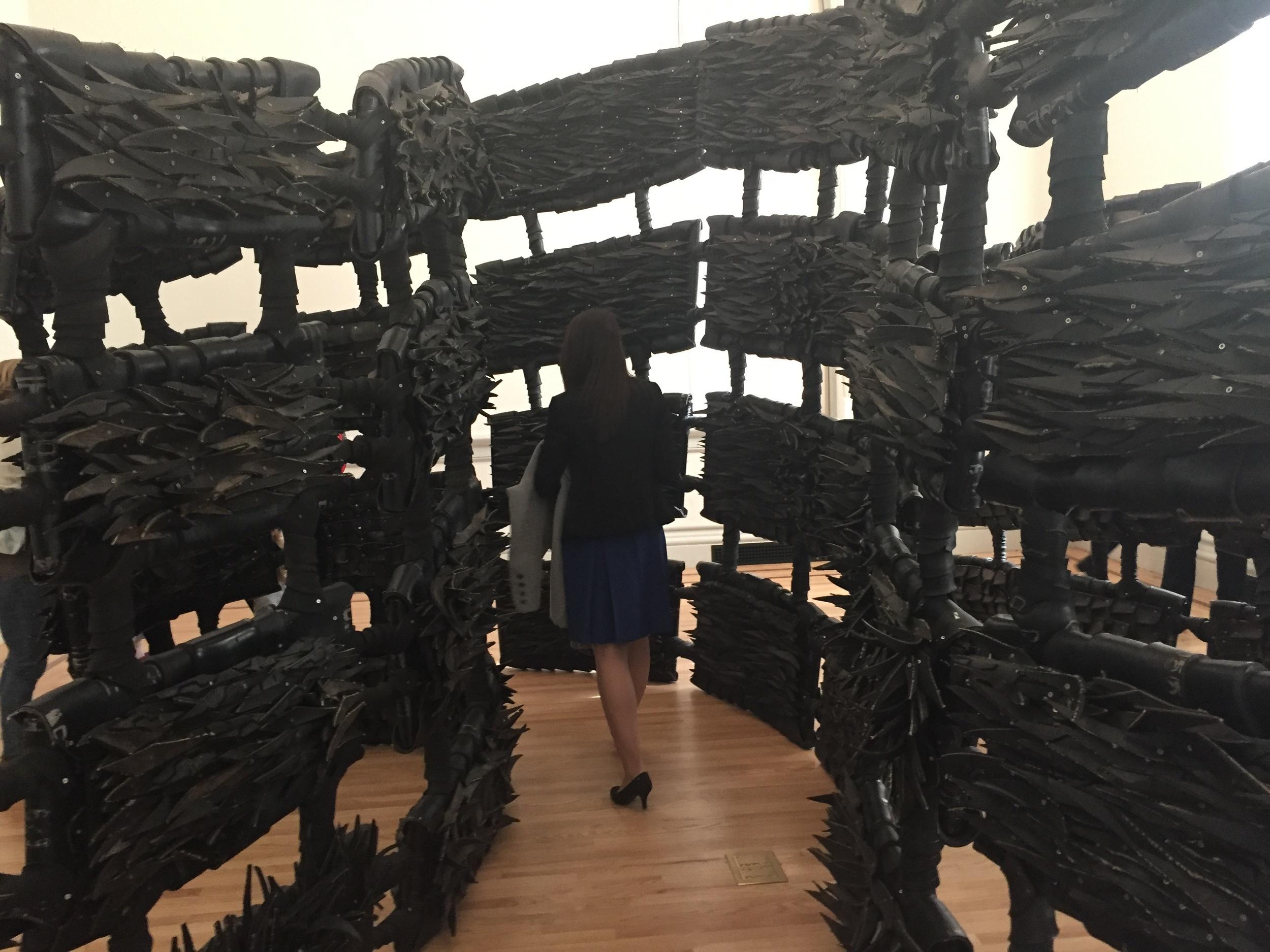 "Chakaia Booker, ""ANONYMOUS DONOR"", 2015"
