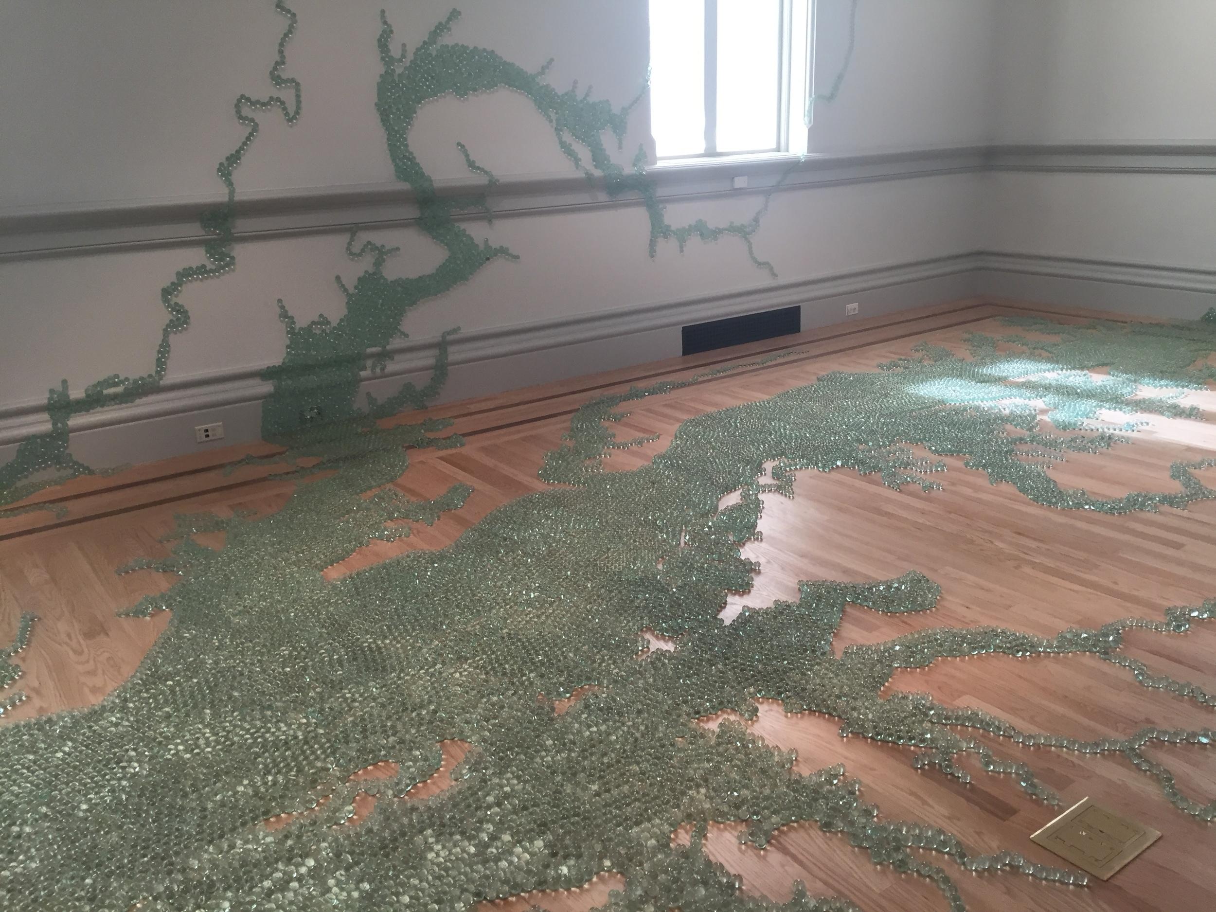 """Maya Lin, """"Folding the Chesapeake"""", 2015"""