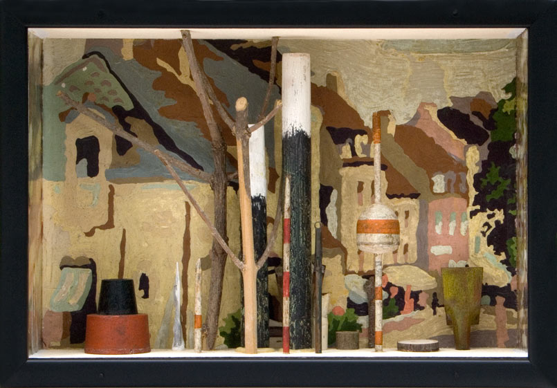 """The Next Street   Mixed media and found objects, 7-1/2"""" x 10-15/16"""" x 3-1/16"""", 2010"""