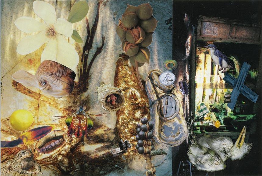 "Dark Calvary   Collage, 6-9/16"" x 9-13/16"", 2013"
