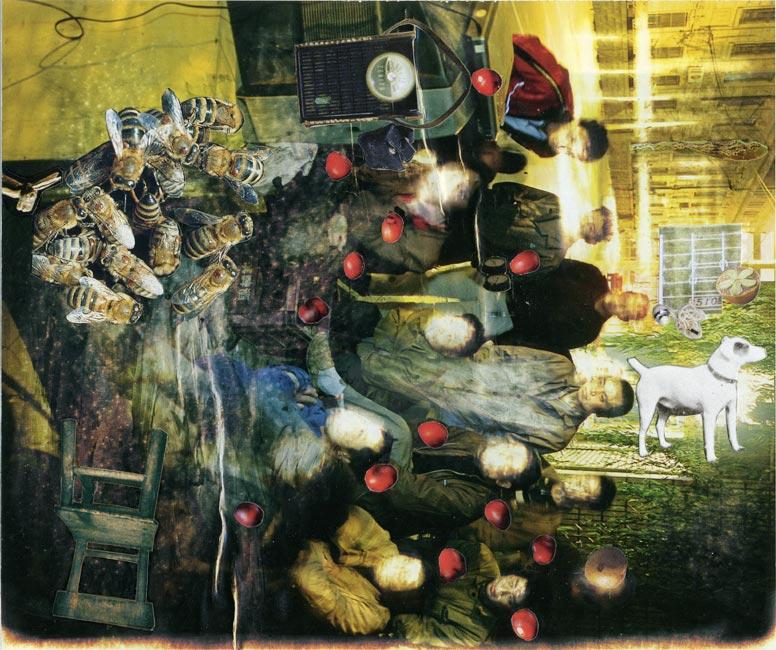 """Silent in the Half-Dark   Collage, 6-5/16"""" x 7-1/2"""", 2013"""