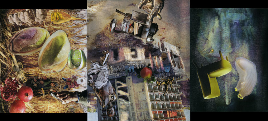 """Mystery Action   Collage, 7-11/16"""" x 17"""", 2015"""