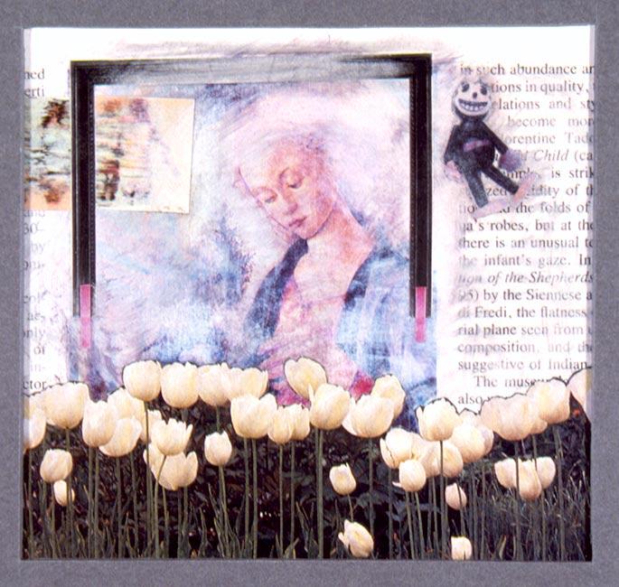 """In Such Abundance   Collage, 4-1/2"""" x 4-1/2"""", 1988"""