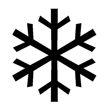 Black and White icon on a snowflake