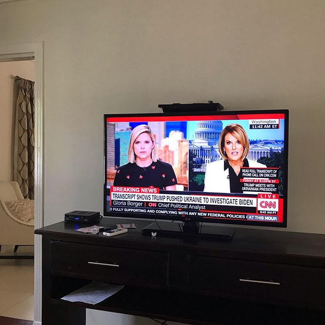 Watching my former Pilates client @katebolduan because WE HAVE TV AGAIN. 🇯🇲 has crazy afternoon ⛈ and our cable went out 3 days ago. I'm doing some businesses development (stay tuned) and am so happy to have CNN back on in the background and...hopefully...see our checks and balances activate.