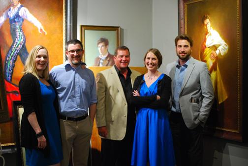 (from left) Jessice Koffman, Joshua Koffman, Jim Vosler, Mardie Rees, Rick Casali taken at Kerry Vosler's Studio
