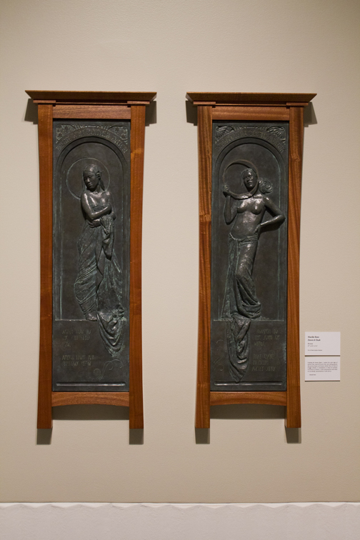 """""""Dawn & Dusk"""", (cast in Forton plaster and framed in Sapele Mahogany)"""