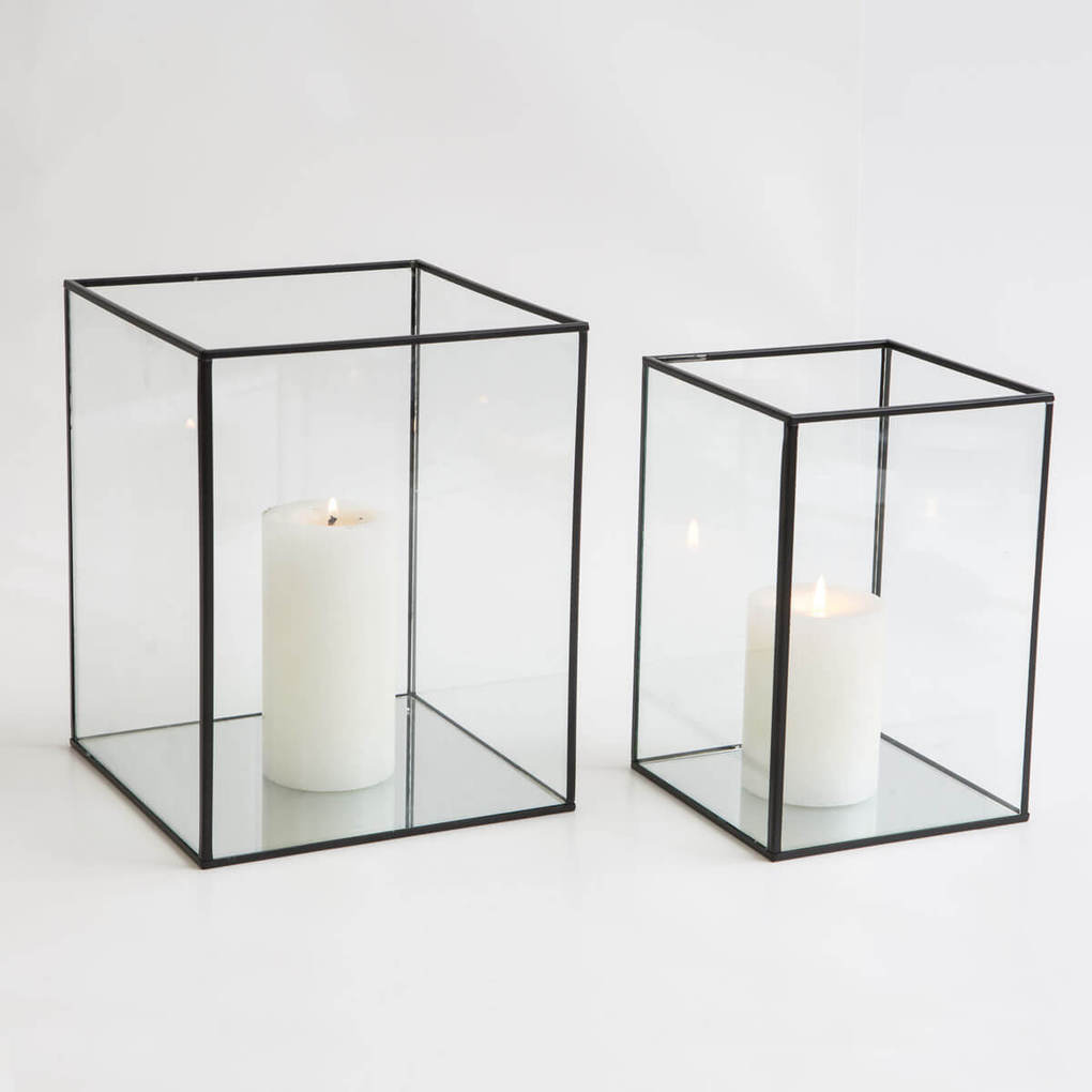 GLASS BOX LANTERNS L $15 / S $8
