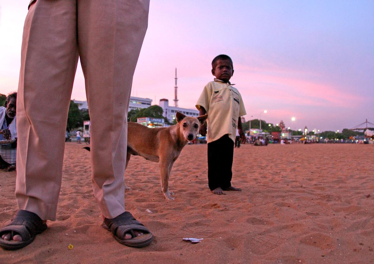 boy and dog on beach bw 5011.jpg