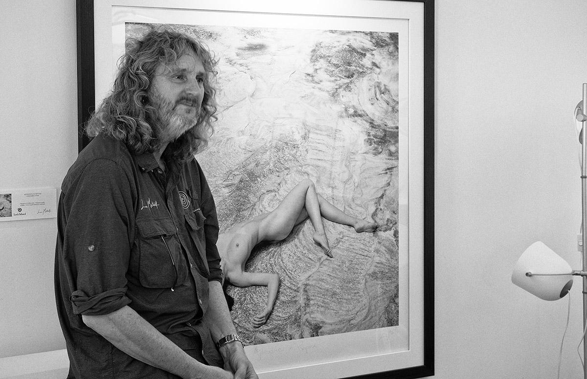Len Metcalf introducing his work
