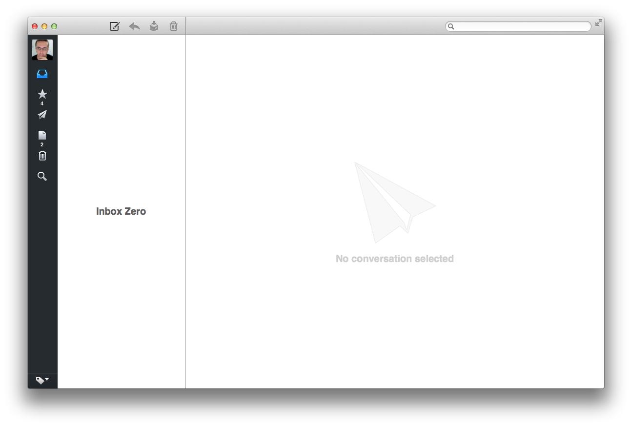 Sparrow, Inbox Zero