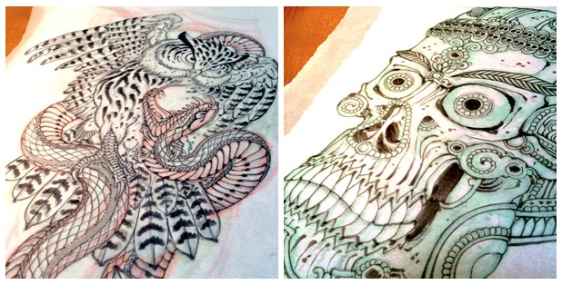Tattoo drawings by Chris O'Donnell 2014