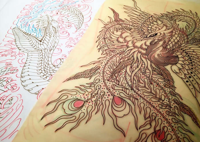 Tattoo preliminary drawings by Chris O'Donnell 2016
