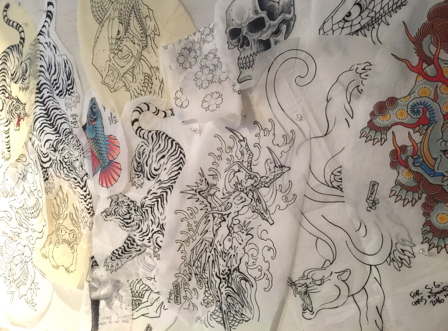 Tattoo drawings by Chris O'Donnell 2016