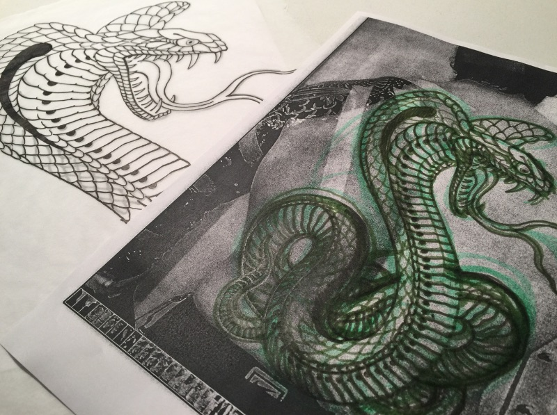 Tattoo drawings by Chris O'Donnell 2017