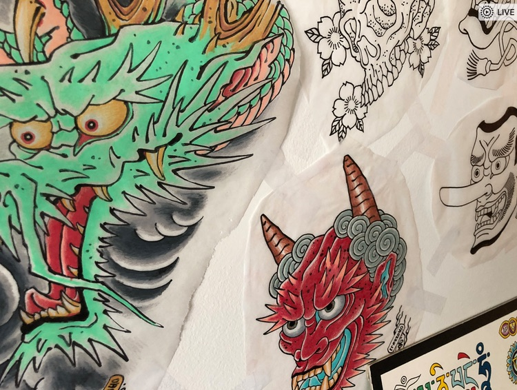 Tattoo drawings by Chris O'Donnell 2017-2018