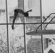 Roger in Diving Competition 1978