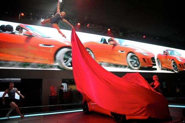Jaguar F-Type Launch Shanghai Auto Show 2013