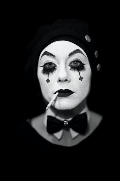 Katharine Arnold Sad Clown Make Up