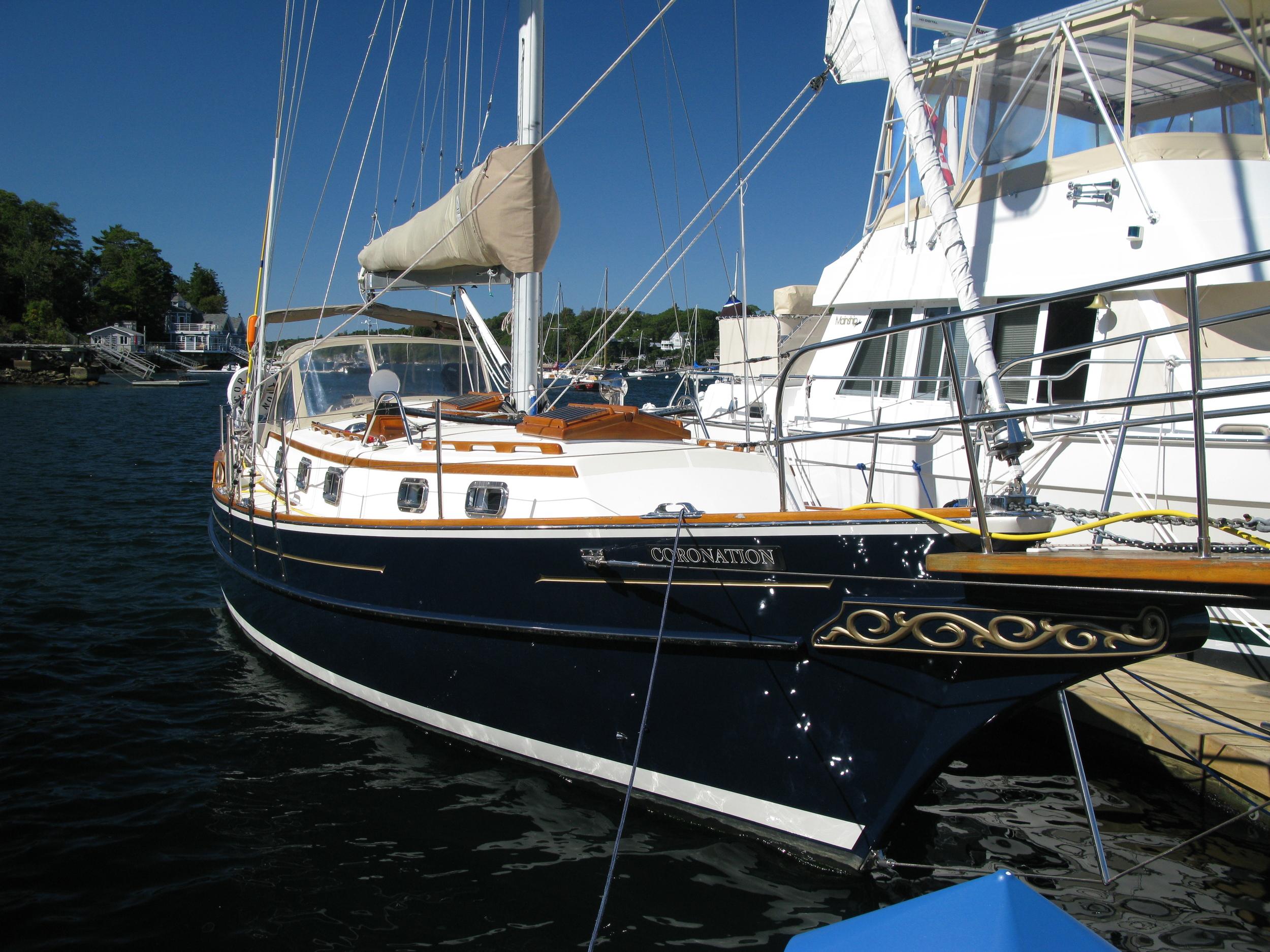 At her dock at RNSYS