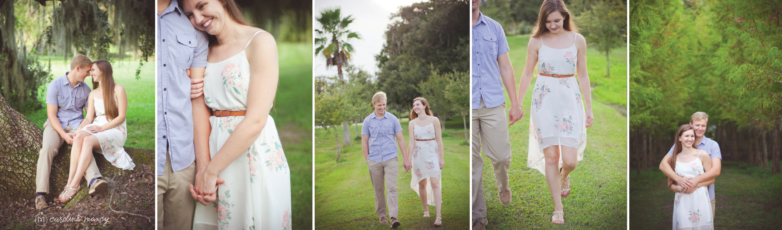 Central Florida engagement photography by Caroline Maxcy Photography.