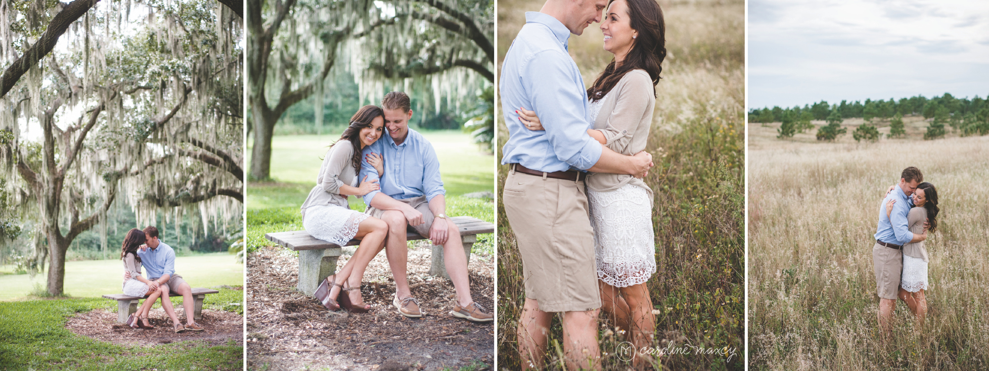 Bok Tower Garden's in Lake Wales, FL Engagement Session with Caroline Maxcy Photography