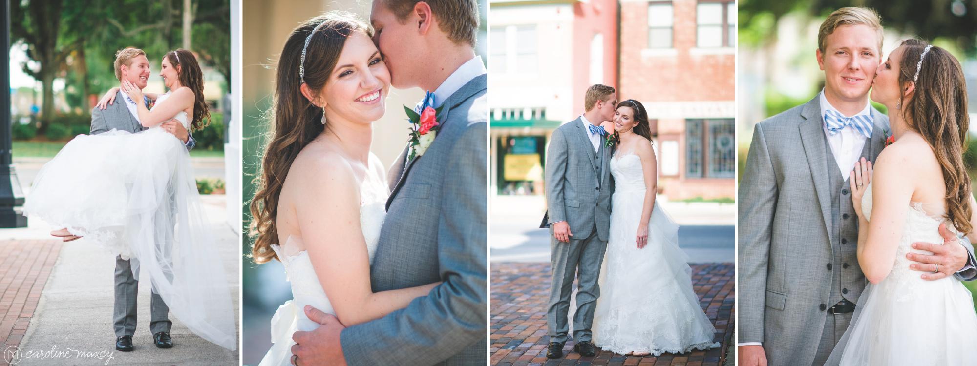 Elic and Amanda's Sebring, FL wedding with Caroline Maxcy Photography.