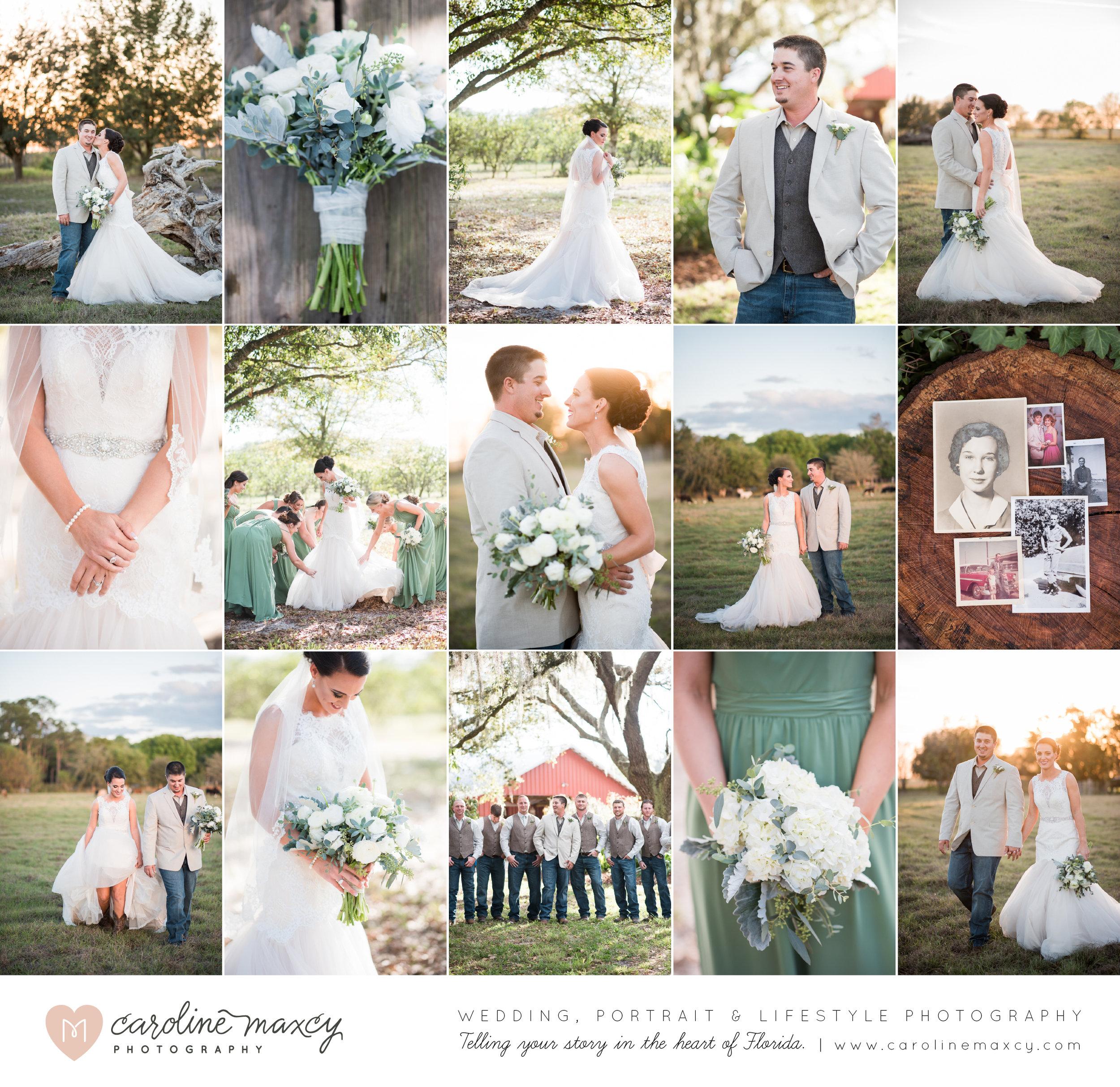 Heather + James — Avon Park, FL Wedding Photography with Caroline Maxcy Photography