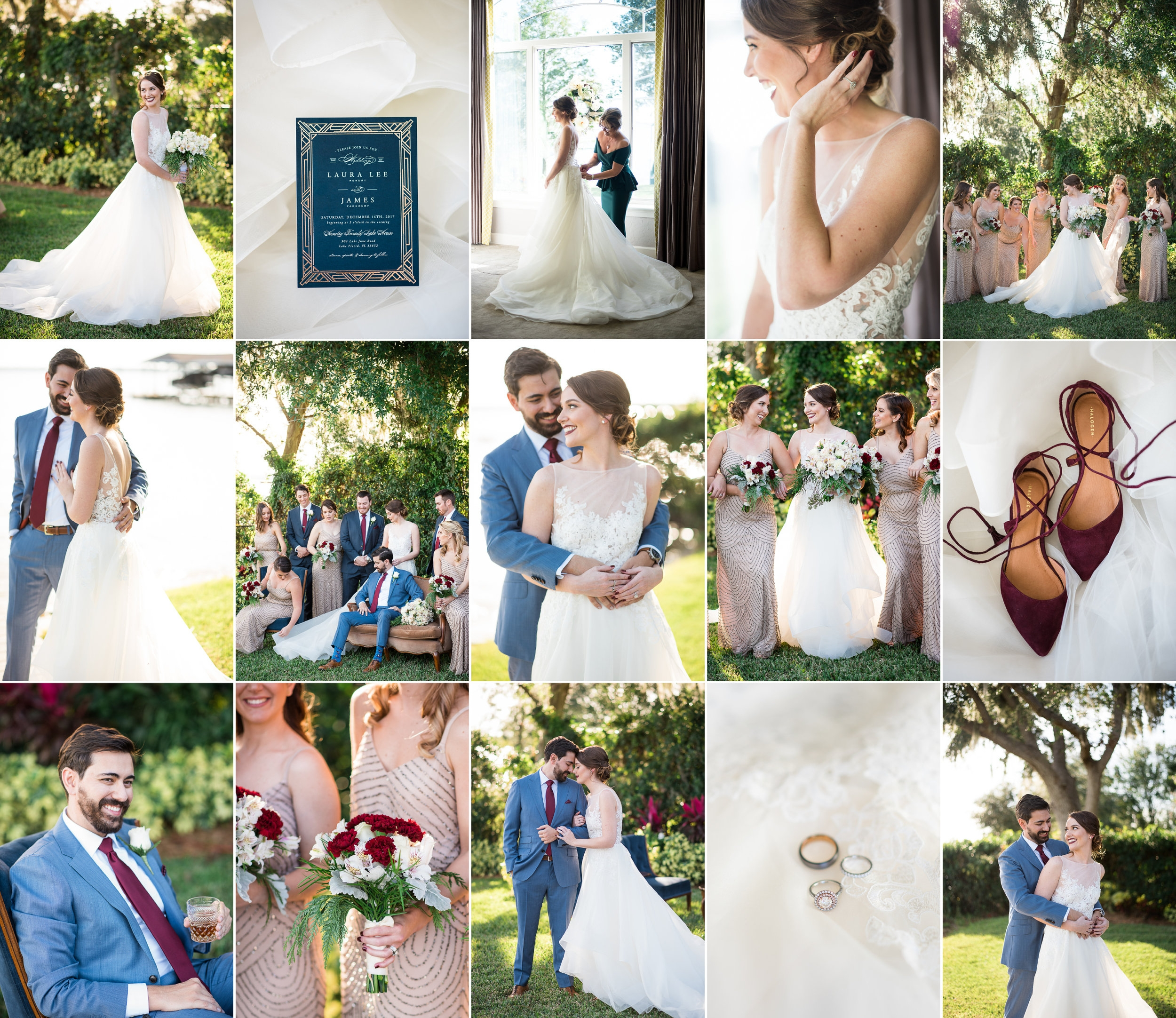 Laura Lee + James - At Home Lakeside Lake Placid, FL Wedding with Caroline Maxcy Photography