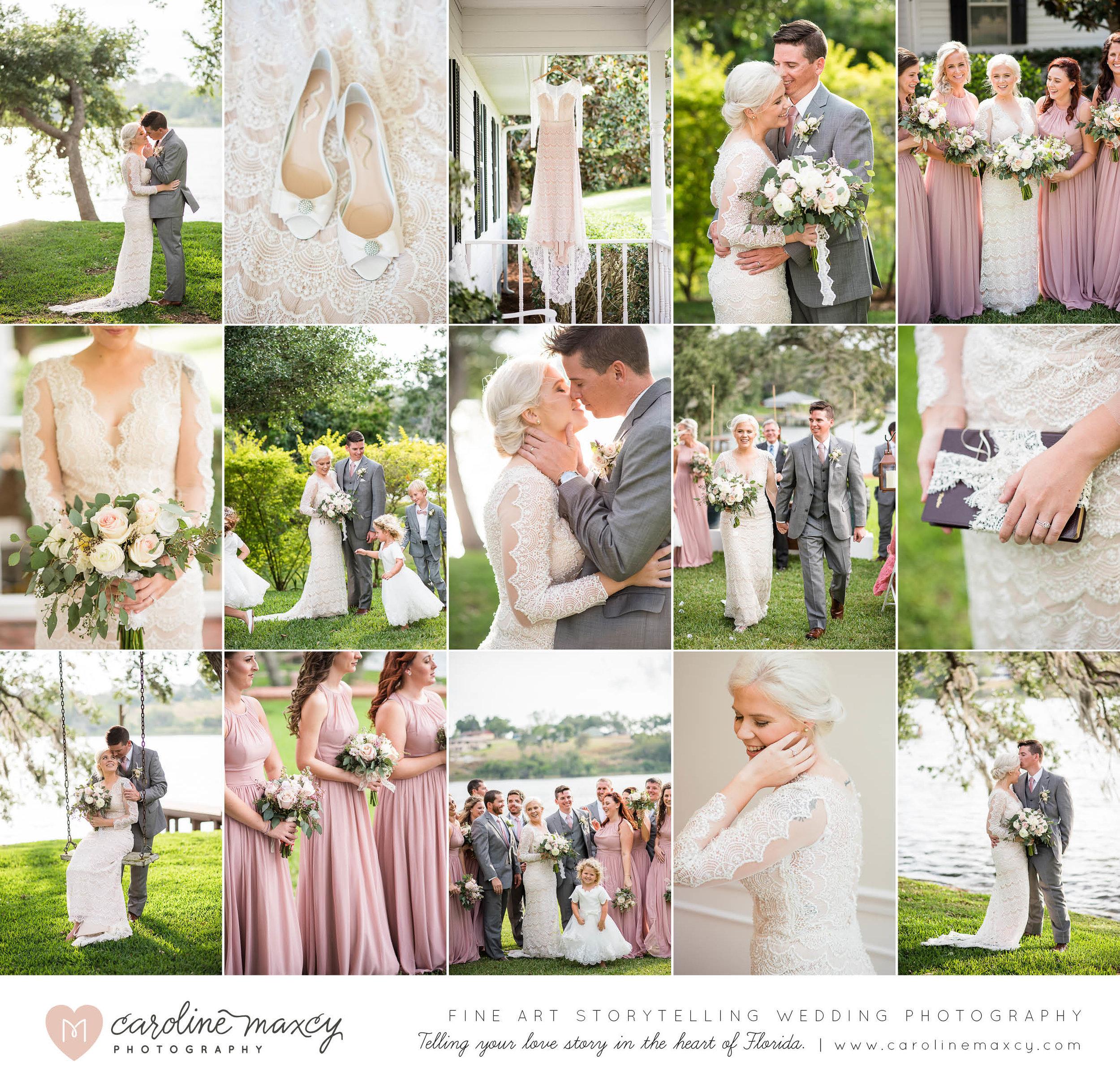 Jess + Kyle's Lakeside Lake Placid, Florida Wedding Photography.