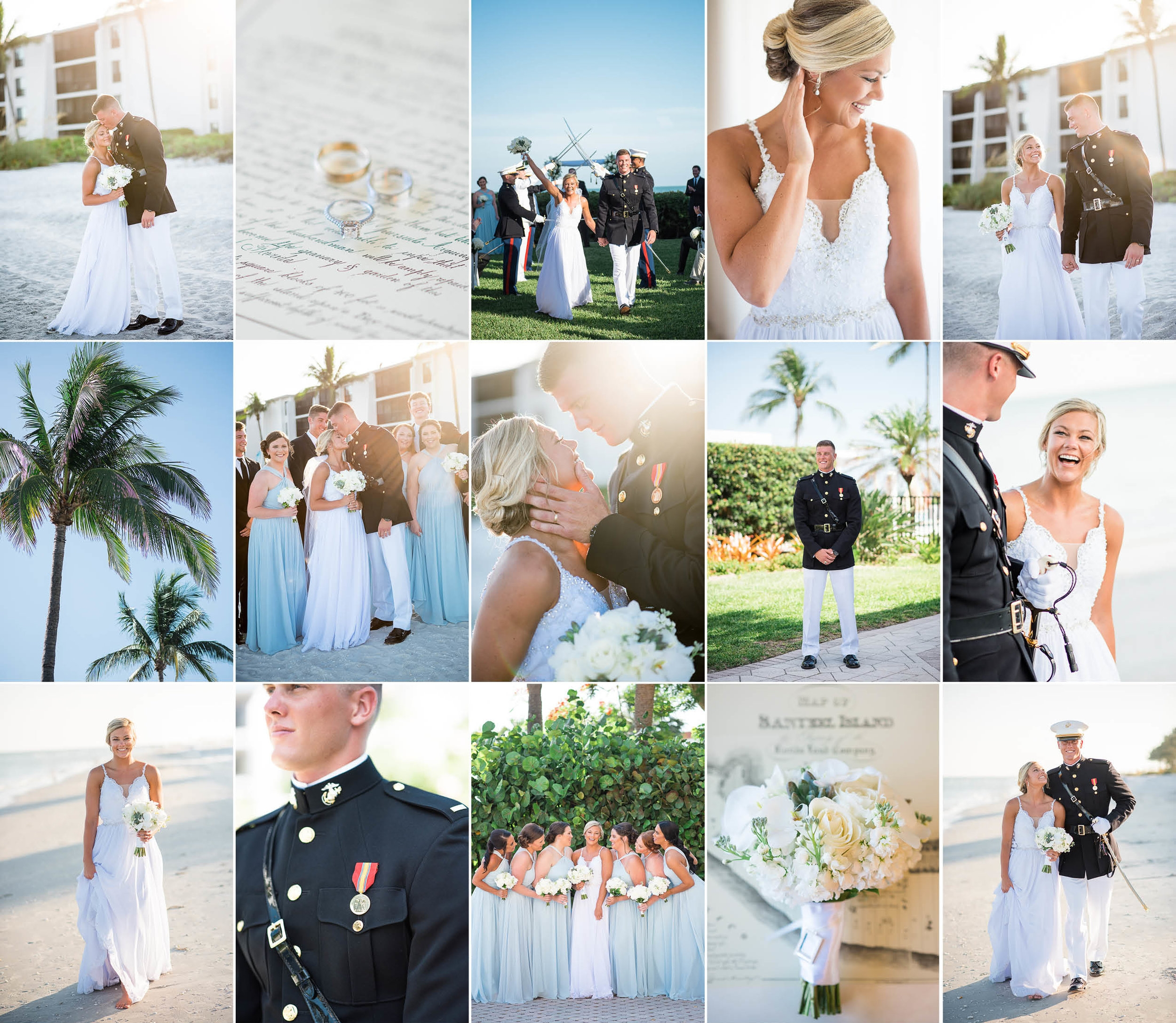 Alexa + Jordan — Sundial Beach Resort — Sanibel Island, Florida Military Wedding Photography