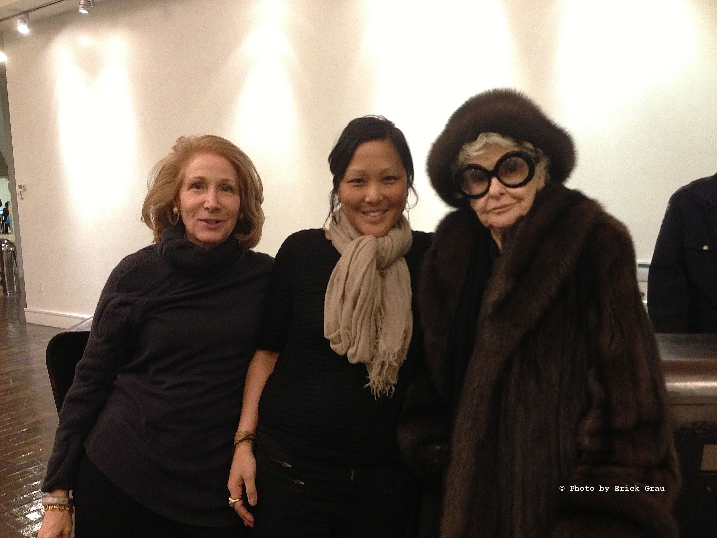 Elizabeth Hemmerdinger (Left), Chiemi Karasawa (Center), & Elaine Stritch (Right)