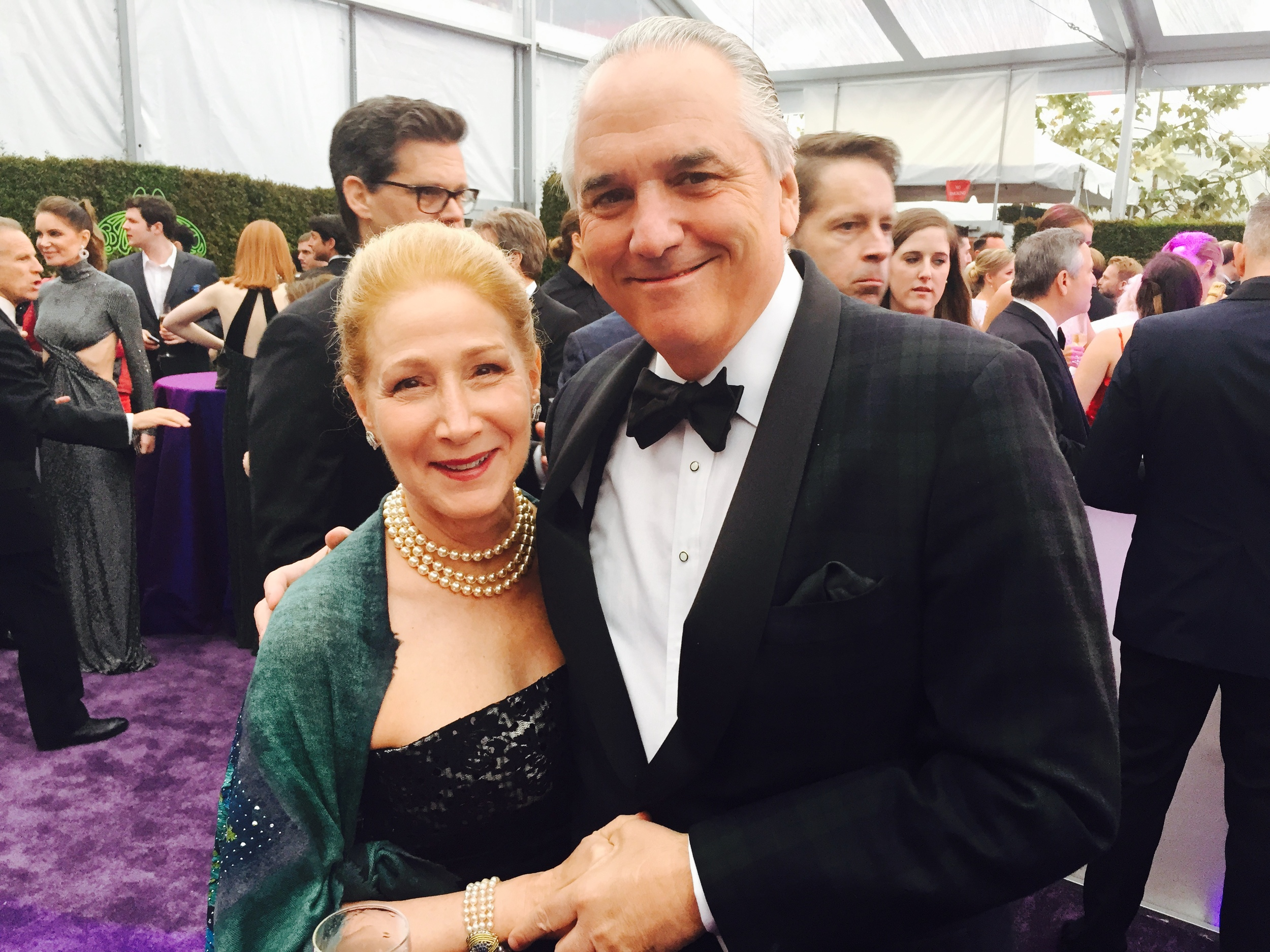 Elizabeth and Vin Roberti at Elton John's Viewing Party. (Photo: Amy Roberti)